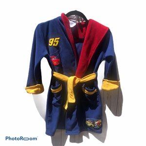 Disney cars fleece hooded robe size small